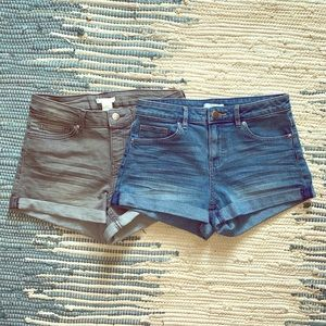 💕Two pairs of H&M stretch shorts💕